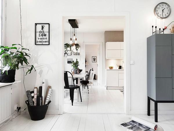 Không gian giữa các căn phòng đều được thiết kế đồng nhất tạo ra sự nhất quán.