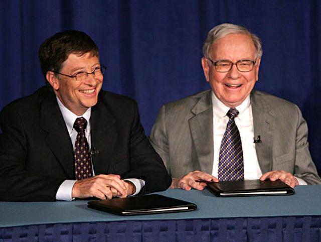 Bill Gates và Warren Buffett là 2 tỷ phú năng nổ nhất trong việc làm từ thiện.