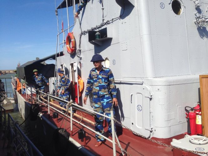 Tàu 211 của Vùng 1 Hải Quân - Ảnh: Doãn Hòa