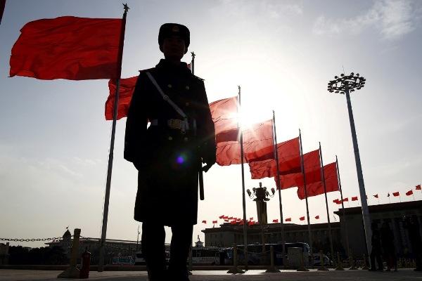 Binh lính canh gác tại quảng trường Thiên An Môn, Bắc Kinh, Trung Quốc