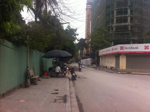 Góc đường Trần Phú -Thanh Bình đi vào dự án