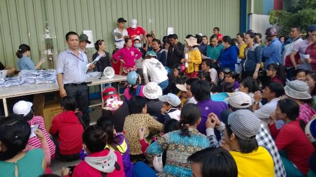 Vụ việc ở Cty Keo Hwa Vina đã ảnh hưởng đến hơn 1.000 gia đình công nhân