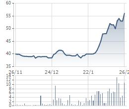 DMC tăng trưởng 35% từ đầu tháng 2