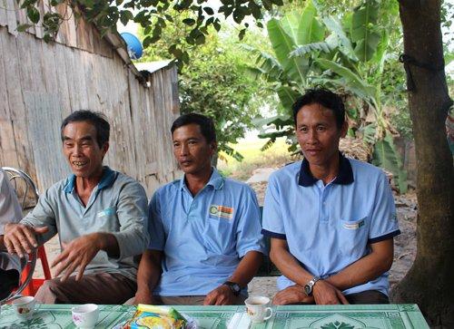 Những hộ nông dân hợp tác với tập đoàn Lộc Trời đang ăn nên làm ra với mô hình lúa - tôm