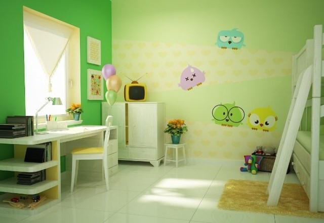 Những gam màu sáng, ấm áp sẽ tác động tích cực đến sức khỏe, sự phát triển trí não của trẻ nhỏ.