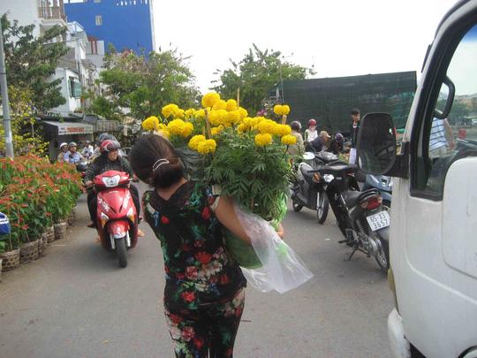 Nhiều người tỏ ra hớn hở vì mua được hoa kiểng đại hạ giá ngày cuối năm