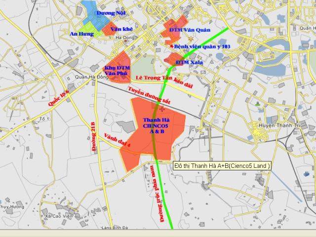 Dự án nằm tại phường Kiến Hưng quận Hà Đông
