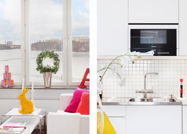 Tiếp nối với không gian tiếp khách là bàn ănvà bếp nấu.