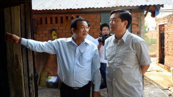 Bí thư thành ủy TP.HCM Đinh La Thăng đến Củ Chi sáng 18-2 - Ảnh: Tuổi Trẻ