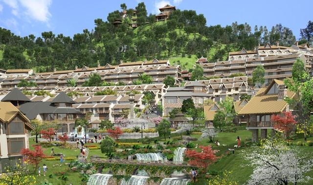 Nhiều đại gia BĐS đang dắt tay nhau lên núi làm bất động sản nghỉ dưỡng -ảnh Sapa Jade Hill