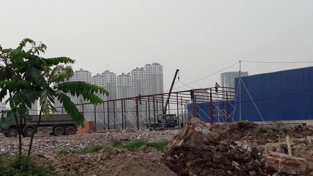 Nhà kho được dựng trên đất dự án