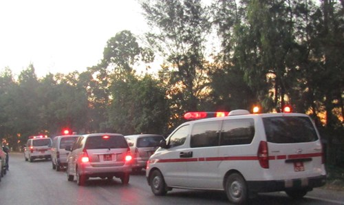 Hiện thi hài phi công Trần Quang Khải được đưa về nhà tang lễ QK4.