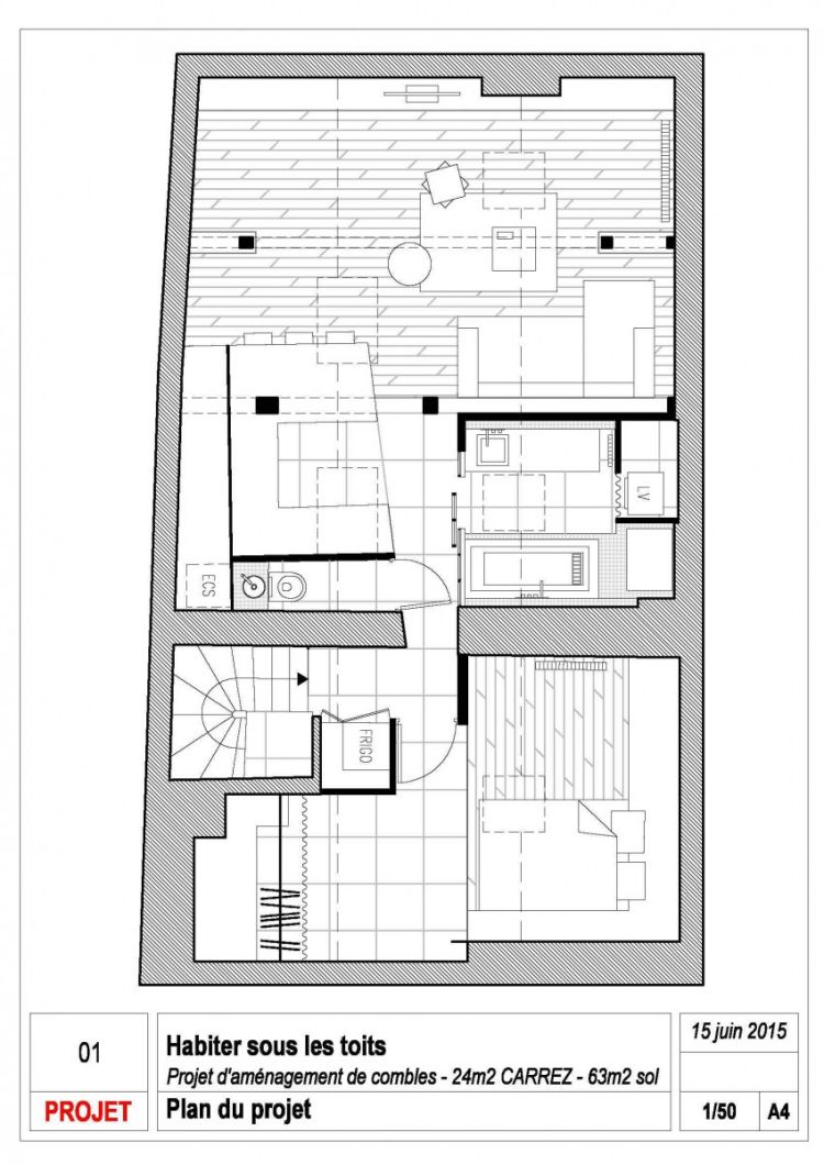 Mô hình căn hộ trên bản thiết kế.