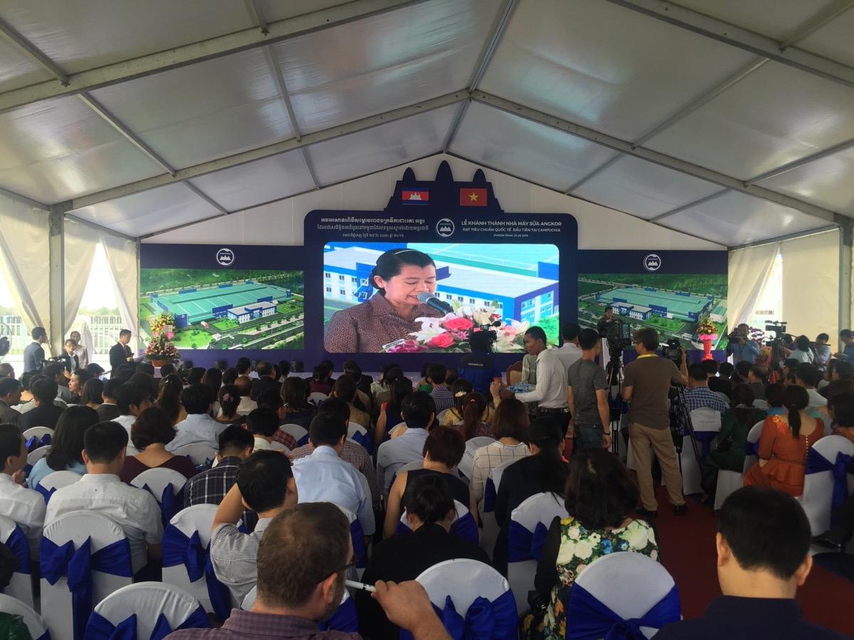 Bà Men Sam On, Phó Thủ Tướng chính phủ Campuchia phát biểu tại lễ khánh thành
