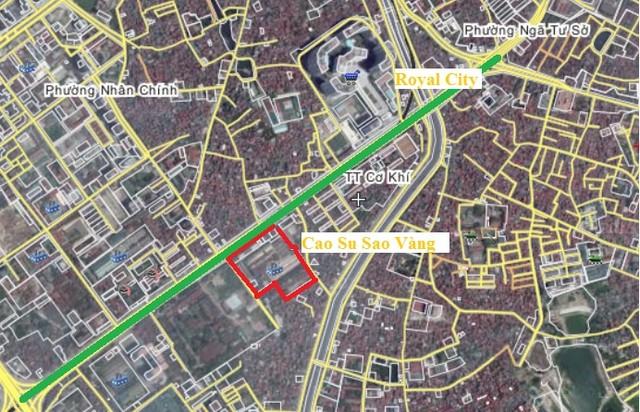 Vị trí khu đất vàng Cao Su Sao Vàng, 231 Nguyễn Trãi (Hà Nội)