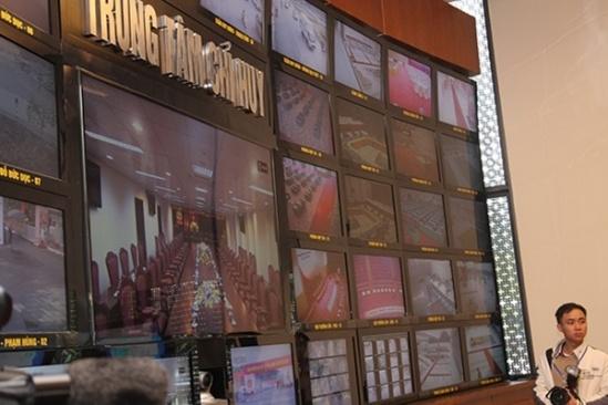 Các hình ảnh camera tại Trung tâm chỉ huy Bộ Công an.