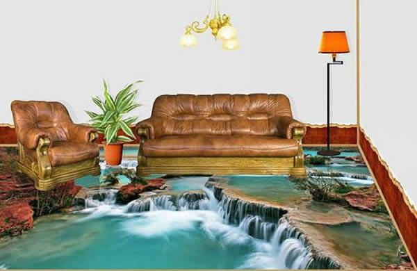 Cả phòng khách như nằm ngay trên những tuyệt tác của thiên nhiên.
