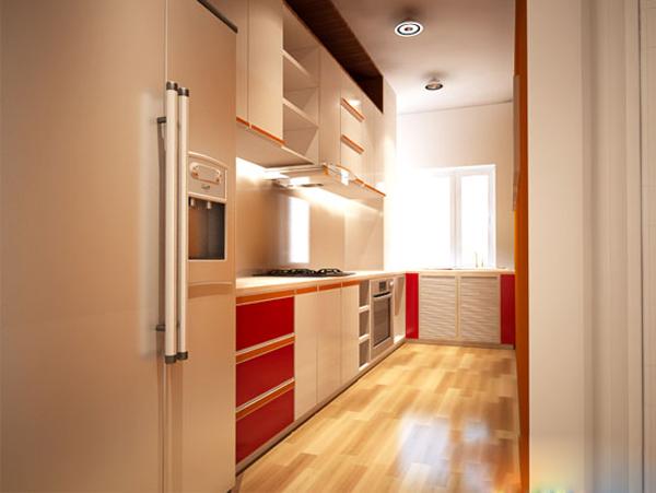 Phòng bếp tiện nghi và vô cùng hiện đại.