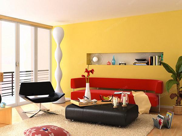 Với bức tường màu vàng chanh, phòng khách nhà bạn trở nên bừng sáng hơn bao giờ hết.