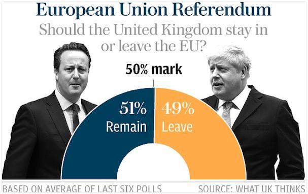 Sắp tới, Anh sẽ trưng cầu dân ý để xem nước này có nên ra khỏi EU hay không. Việc Anh ra khỏi EU sẽ tạo ra một tiền lệ nguy hiểm, ảnh hưởng lớn đến thương mại quốc tế và các dòng vốn.