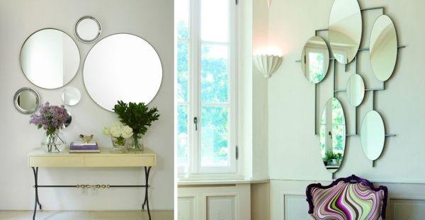 Trang trí hành lang bằng những chiếc gương với nhiều kích cỡ khác nhau không chỉ mang lại sự ấm cúng, tươi mới mà còn làm cho hành lang trở nên rộng rãi hơn, thoáng mát hơn.