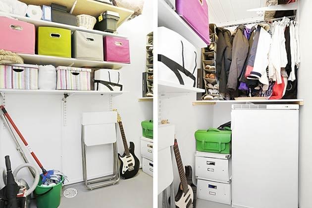 Mọi đồ dùng cá nhân trong nhà điều được sắp xếp ngăn nắp và khoa học. Mọi vị trí của căn phòng điều được tận dụng một cách tối đa.