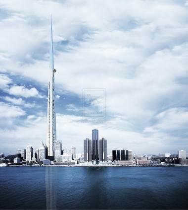 Kingdom Tower là tòa tháp cao nhất thế giới với chiều cao gần 1km