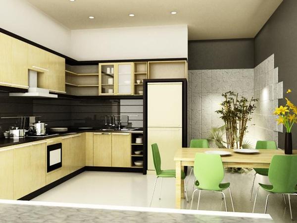 Bếp nấu cần tránh bị nhìn trực diện từ cửa chính bước vào nhà.