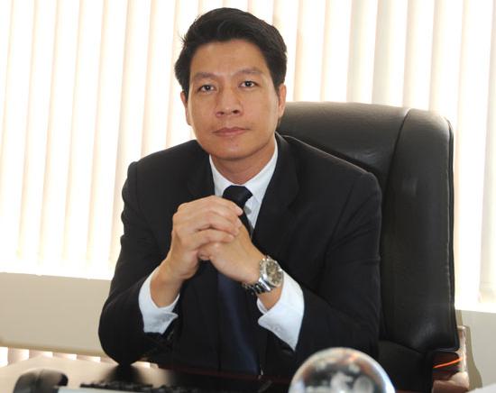 '''' Ông Ngô Quang Phúc, phó tổng giám đốc Him Lam Land. Ảnh Quang Định ''''
