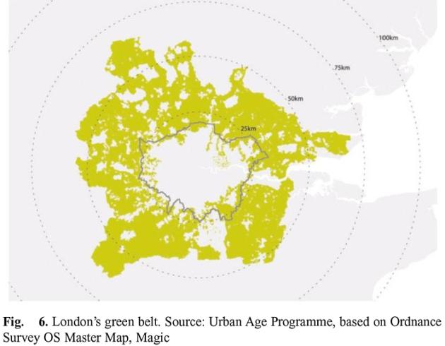 Quy hoạch vành đai xanh thành phố Luân Đôn