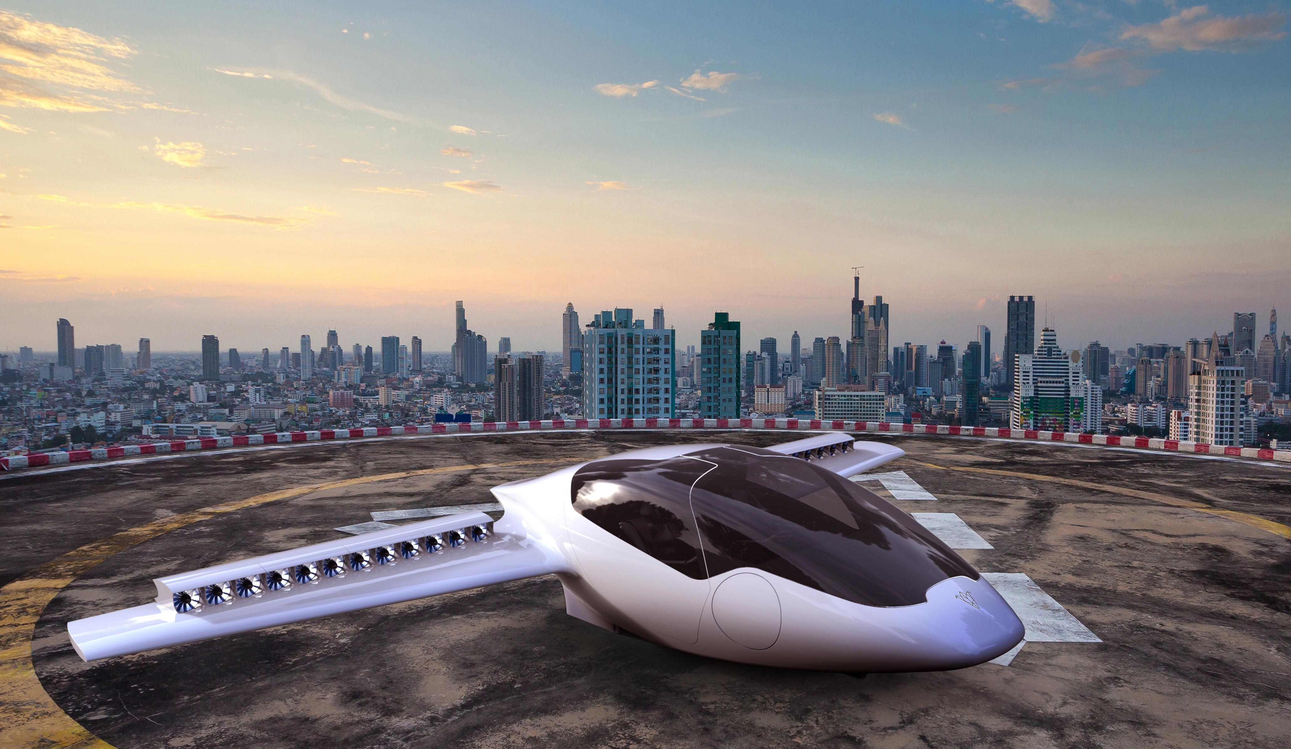 """Nhóm thiết kế hy vọng Lilium sẽ đi vào hoạt động năm 2018. Công ty phát triển mẫu máy bay mới là mô hình khởi nghiệp nằm dưới sự bảo trợ kinh doanh của ESA. Lilium được kỳ vọng tạo ra cuộc cách mạng về máy bay cá nhân nhưng vẫn đảm bảo các lợi ích về môi trường và tính thiết thực. Daniel Wiegand, một trong 4 nhà sáng lập công ty, cho biết: """"Về lâu dài, mục tiêu của chúng tôi là tạo ra một chiếc máy bay mà mọi người đều có thể mua trong bối cảnh chuyên cơ hiện nay vẫn là đặc quyền của giới siêu giàu"""". Ảnh: ESA"""
