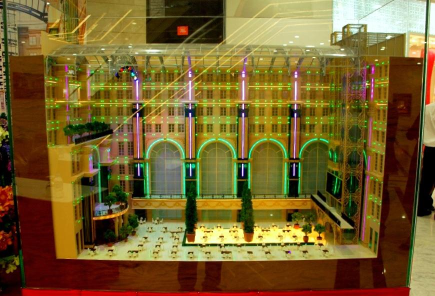 Mô hình khách sạn Union Square sau khi hoàn thành