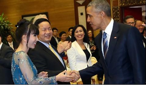 Ông Trương Gia Bình với Tổng thống Obama