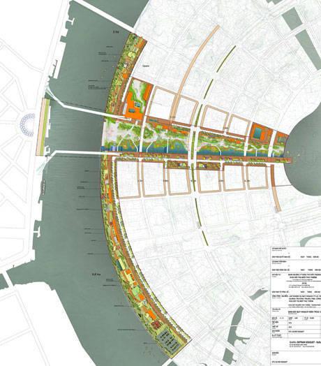 Quy hoạch khu công viên, quảng trường trung tâm KĐT mới Thủ Thiêm
