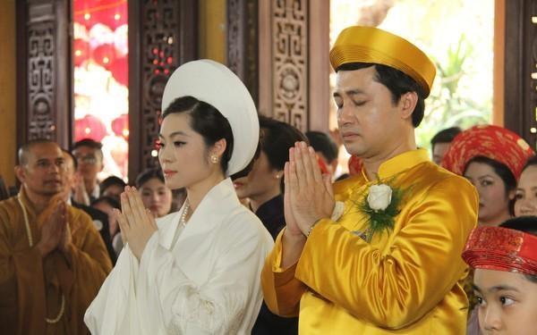 Quỳnh Ngọc trong lễ cưới của mình