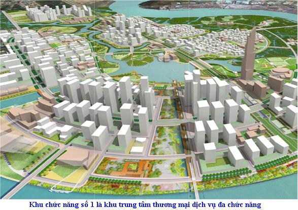 Đại lộ Vòng cung-đoạn sẽ là nơi tổ chức diễu binh và diễu hành nằm trong khu chức năng số 1, được quy hoạch là các trung tâm thương mại, tài chính với các khối nhà cao tầng hai bên Đại lộ