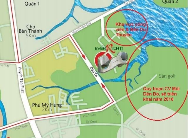 Vị trí dự án River City đổi tên từ The Everich 2