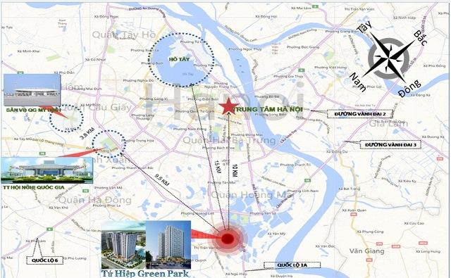Bản đồ vị trí dự án Tứ Hiệp Plaza