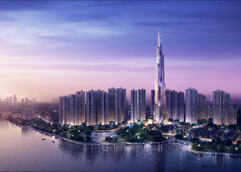 <br />Tháp Lanmdark 81 đang xây dựng, cao nhất Việt Nam tại Vinhomes Central Park<br />