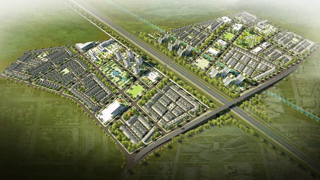Phối cảnh một dự án khu đô thị của bầu Thụy tại Hưng Yên