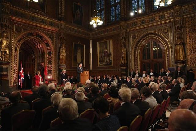 Ông Tập Cận Bình phát biểu trước các nghị sỹ Quốc hội anh ở London ngày 20/10 - Ảnh: Reuters.