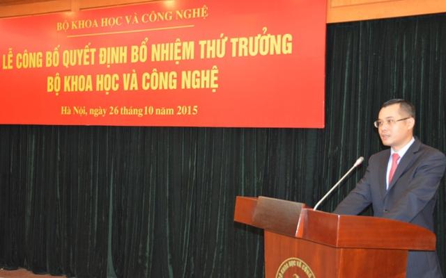 Tân Thứ trưởng Phạm Đại Dương phát biểu tại buổi Lễ bổ nhiệm