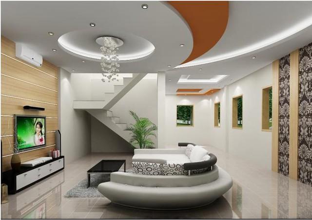 Ngoài ra, những bóng đèn Led trong các rãnh thạch cao sẽ là điểm nhấn cho trần nhà bạn.