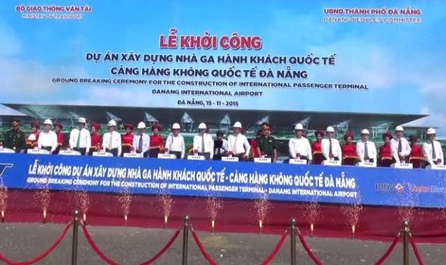 Lễ khởi công xây dựng nhà ga sân bay Đà Nẵng sáng 15-11 - Ảnh: Đăng Nam
