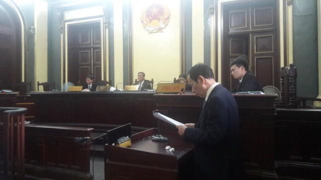 Luật sư Nguyễn Đăng Trừng bào chữa cho bị cáoDương Thanh Cường