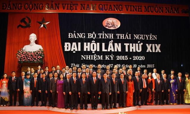 Ra mắt Ban Chấp hành Đảng bộ tỉnh Thái Nguyên, nhiệm kỳ 2015-2020. Ảnh Thainguyentv.vn