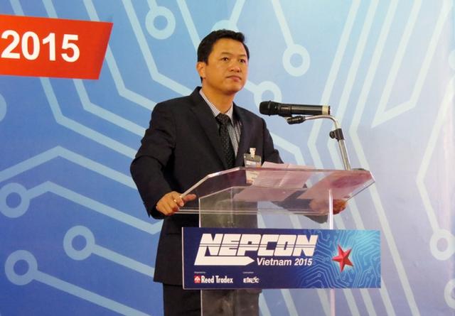 Ông Lưu Hoàng Long, Chủ tịch Hiệp hội Doanh nghiệp điện tử Việt Nam. Ảnh: P.M.