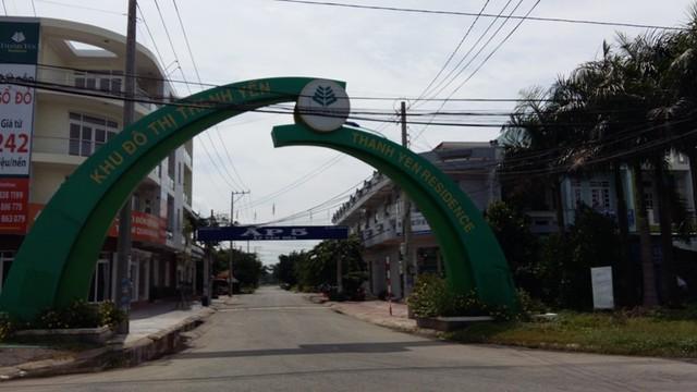 Khu đô thị Thanh Yên Residence vẩn còn thưa thớt dân cư sinh sống. Dự án nằm song sng với trục đường chính của khu công nghiệp Nhựt Chánh - Bến Lức.