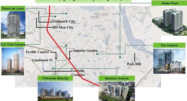 """Dự án chung cư cao cấp đang triển khai """"vây"""" tuyến vành đai 3"""