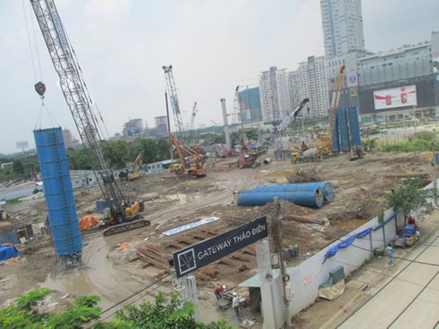 Căn hộ Gateway Thảo Điền, do Sơn Kim Land và Hamon Developments đầu tư. Dự án đang trong giai đoạn xây dựng phần móng.